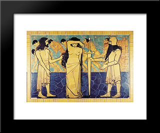 Wall Decoration For Beurs Van Berlage Cafe: Modern Black Framed Art Print by Jan Toorop