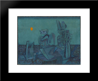 No Man'S Land: Modern Black Framed Art Print by Jankel Adler