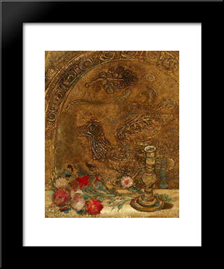 Still Life: Modern Black Framed Art Print by Jankel Adler