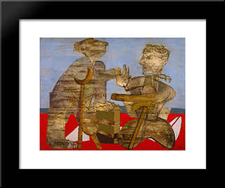 The Mutilated: Modern Black Framed Art Print by Jankel Adler