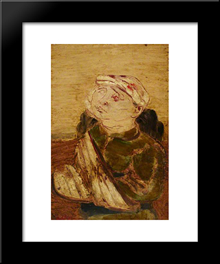 Wounded: Modern Black Framed Art Print by Jankel Adler
