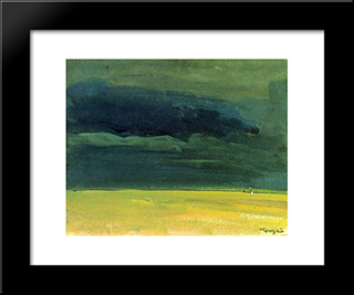 Clouding Over The Great Hungarian Plain: Modern Black Framed Art Print by Janos Tornyai