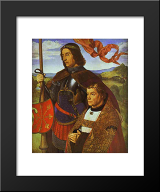 Portrait Of Francis De Chateaubriand: Modern Black Framed Art Print by Jean Hey