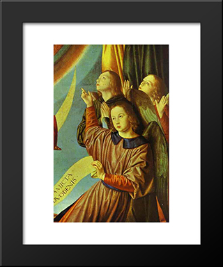 Portrait Of Margaret Of Austria (Portrait Of A Young Princess): Modern Black Framed Art Print by Jean Hey