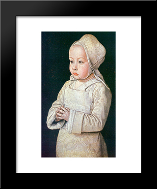Portrait Of Suzanne Of Bourbon: Modern Black Framed Art Print by Jean Hey