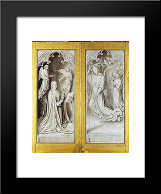 The Annunciation: Modern Black Framed Art Print by Jean Hey