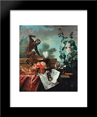 Allegory Of Air: Modern Black Framed Art Print by Jean Baptiste Oudry
