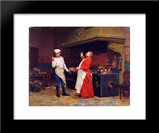 The Marvelous Sauce: Modern Black Framed Art Print by Jehan Georges Vibert