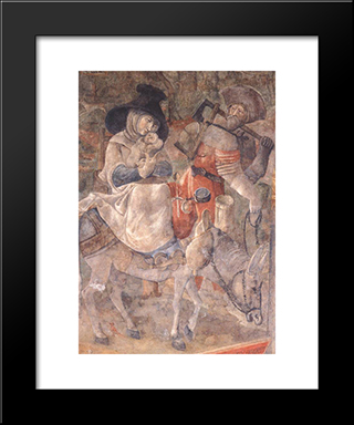 Flight To Egypt: Modern Black Framed Art Print by Jerg Ratgeb