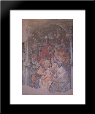 Fresco In The Karmeliterkloster, Frankfurt Am Main: Modern Black Framed Art Print by Jerg Ratgeb