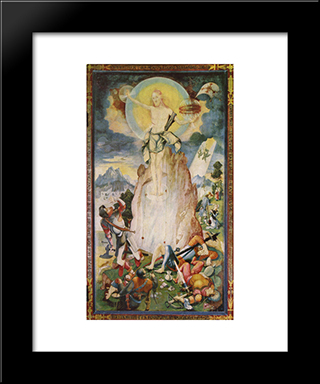 Resurrection Of Christ: Modern Black Framed Art Print by Jerg Ratgeb