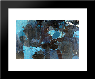 Untitled: Modern Black Framed Art Print by Jiro Yoshihara