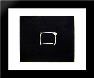 Work: Modern Black Framed Art Print by Jiro Yoshihara