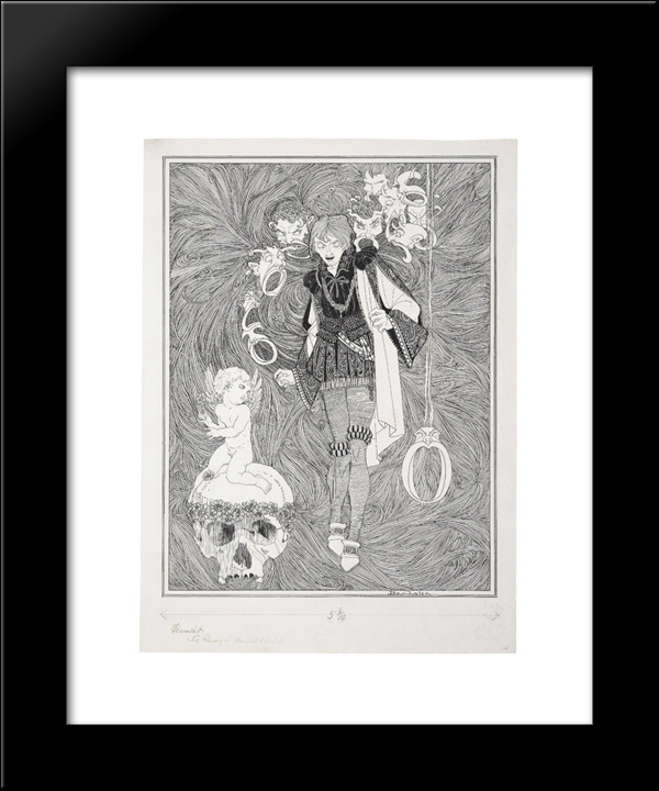 Hamlet: Modern Black Framed Art Print by John Austen