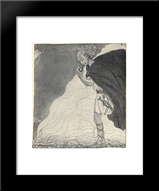 Loki Finds Gullveig'S Heart: Modern Black Framed Art Print by John Bauer