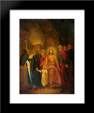 Justice (Christ And The Elders In The Temple): Modern Black Framed Art Print by John Bradley