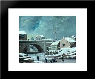 Old Corn Mill, Keighley: Modern Black Framed Art Print by John Bradley