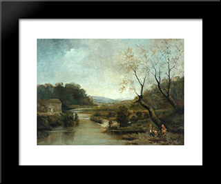 Old Corn Mill, Stockbridge: Modern Black Framed Art Print by John Bradley