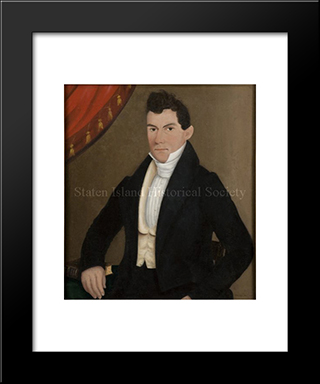 Portrait Of Captain John Cole: Modern Black Framed Art Print by John Bradley