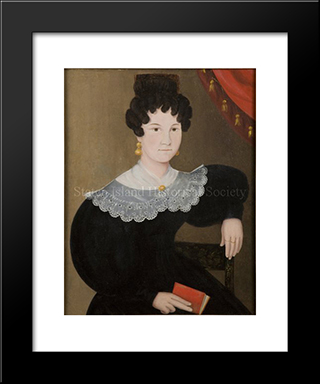 Portrait Of Catherine Rachel (Winant) Cole: Modern Black Framed Art Print by John Bradley