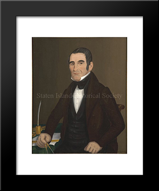 Portrait Of John Totten: Modern Black Framed Art Print by John Bradley
