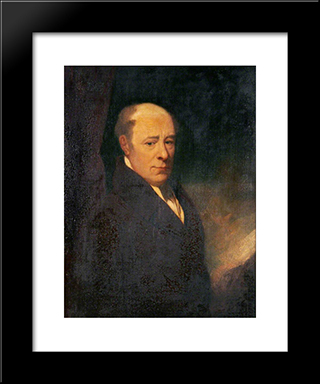 Sir Robert Seppings: Modern Black Framed Art Print by John Bradley