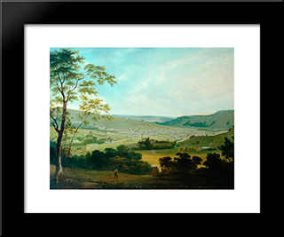 View Of Keighley: Modern Black Framed Art Print by John Bradley