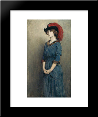 Angela Mcinnes: Modern Black Framed Art Print by John Collier