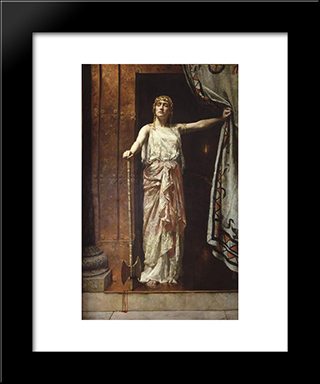 Clytemnestra: Modern Black Framed Art Print by John Collier