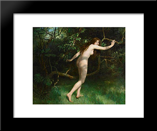 Eve: Modern Black Framed Art Print by John Collier