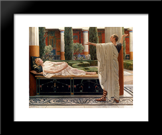 Horace And Lydia: Modern Black Framed Art Print by John Collier