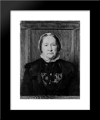 Mrs Huxley: Modern Black Framed Art Print by John Collier