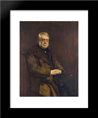 Sir George Biddell Airy: Modern Black Framed Art Print by John Collier