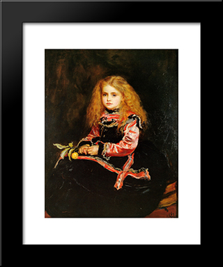 A Souvenir Of Velazquez: Modern Black Framed Art Print by John Everett Millais