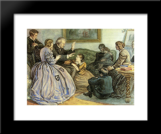 A Winter'S Tale: Modern Black Framed Art Print by John Everett Millais