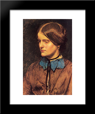 Annie Miller: Modern Black Framed Art Print by John Everett Millais