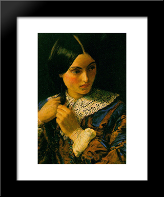 Beauty: Modern Black Framed Art Print by John Everett Millais