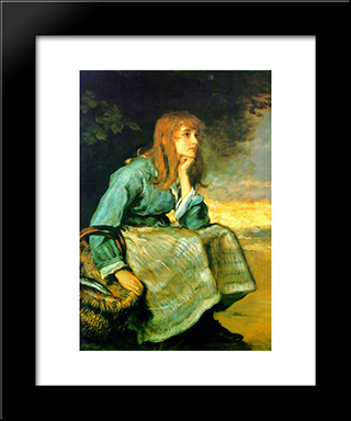 Caller Herrin': Modern Black Framed Art Print by John Everett Millais