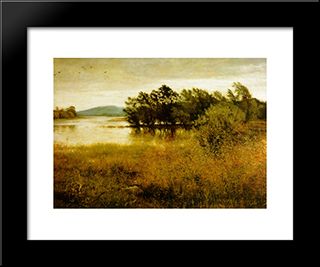 Chill-October: Modern Black Framed Art Print by John Everett Millais
