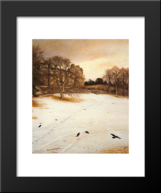 Christmas-Eve: Modern Black Framed Art Print by John Everett Millais