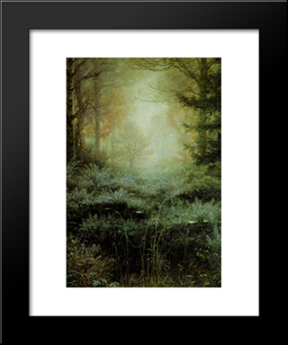 Dew Drenched Furze: Modern Black Framed Art Print by John Everett Millais