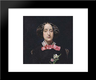 Emily Patmore: Modern Black Framed Art Print by John Everett Millais