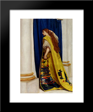 Esther: Modern Black Framed Art Print by John Everett Millais