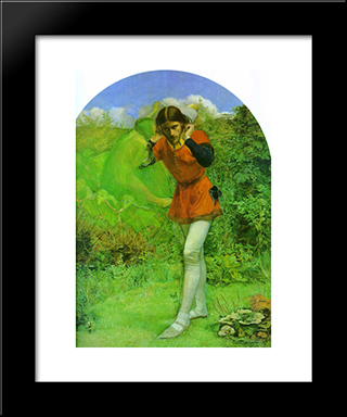 Ferdinand Lured By Ariel: Modern Black Framed Art Print by John Everett Millais