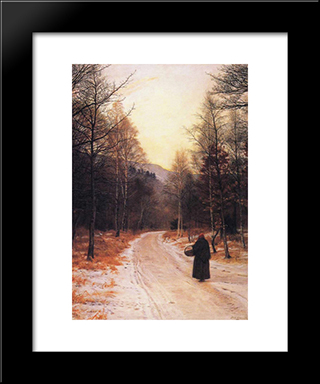 Glen Birnam: Modern Black Framed Art Print by John Everett Millais