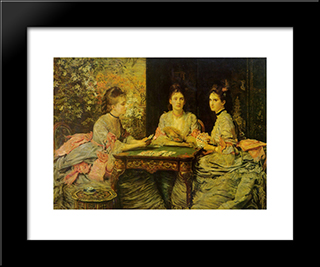 Hearts Are Trumps: Modern Black Framed Art Print by John Everett Millais