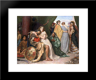 Jephthah: Modern Black Framed Art Print by John Everett Millais