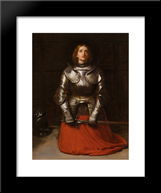 Joan Of Arc: Modern Black Framed Art Print by John Everett Millais