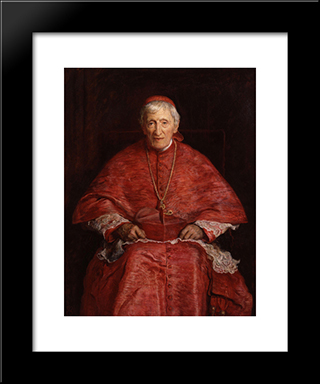 John Henry Newman: Modern Black Framed Art Print by John Everett Millais