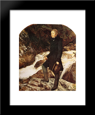 John Ruskin: Modern Black Framed Art Print by John Everett Millais